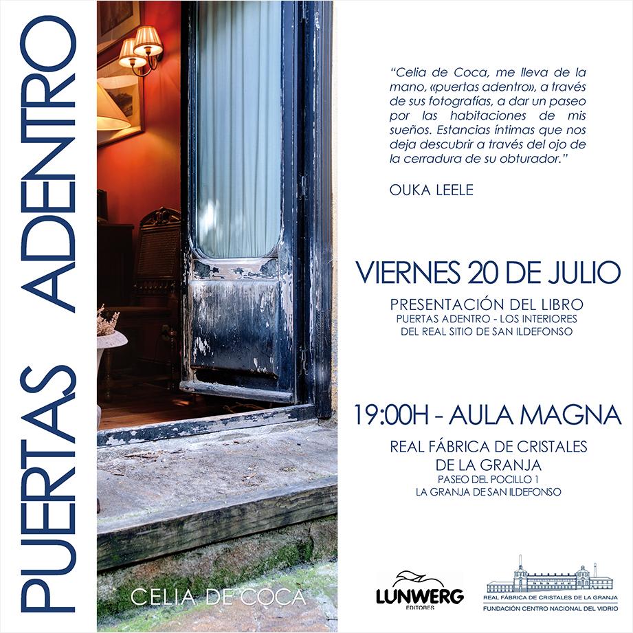 Lunwerg presenta el libro de Celia de Coca titulado 'Puertas Adentro - Los interiores del Real Sitio de San Ildefonso'