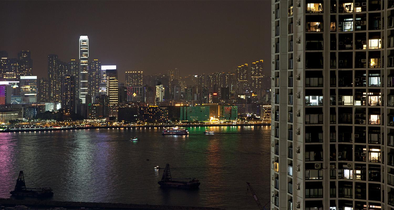 skyline hong kong night - fotografía - celia de coca