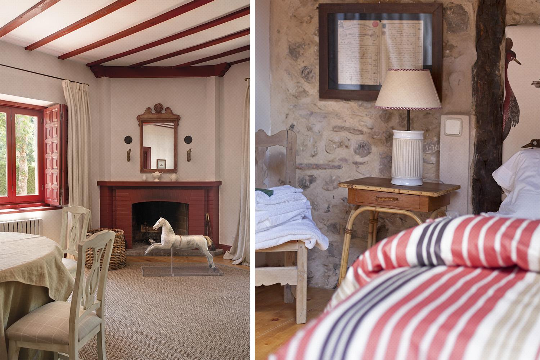 dormitorio chimenea - granate - casa pueblo - fotografia interiorismo - fotografia decoracion - celia de coca