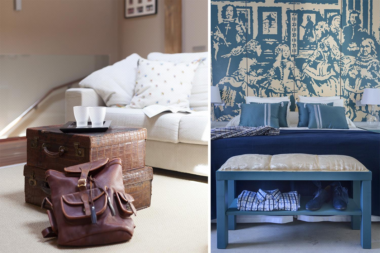 dormitorio azul - interpretación Meninas - fotografia interiorismo - fotografia decoracion - celia de coca