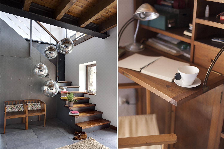 recibidor hall rústico chic - bolas discoteca - fotografia interiorismo - fotografia decoracion - celia de coca