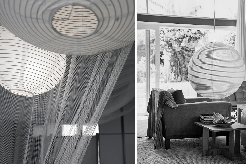salon estar - bola de papel lámpara - fotografia interiorismo - fotografia decoracion - celia de coca