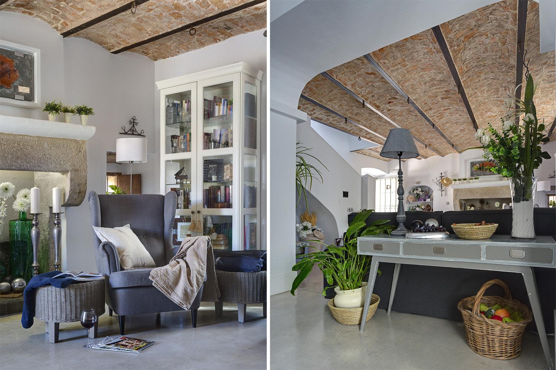 salon estar rústico vintage chic - fotografia interiorismo - fotografia decoracion - celia de coca
