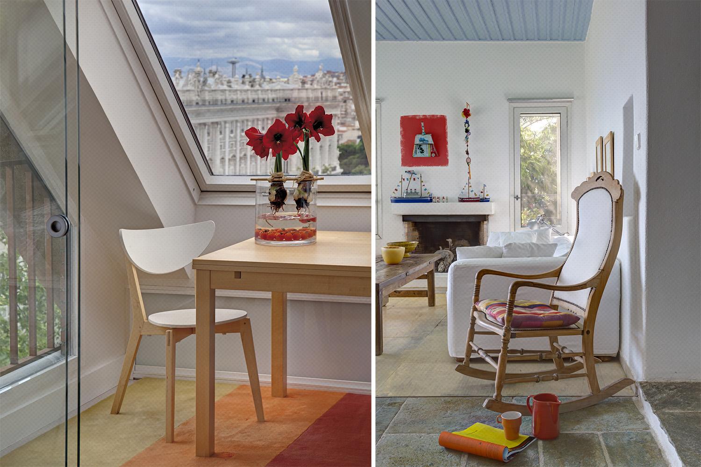 salon - amarilis - arreglo floral- buhardilla palacio real - fotografia interiorismo - fotografia decoracion - celia de coca